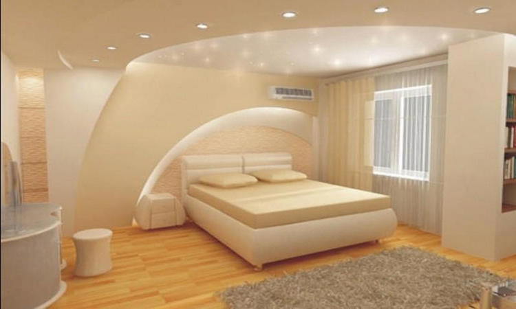 Дизайны потолков из гипсокартона в маленькой комнате