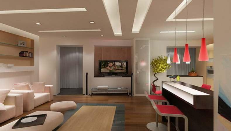 Дизайн гостиной с кухней — слишком