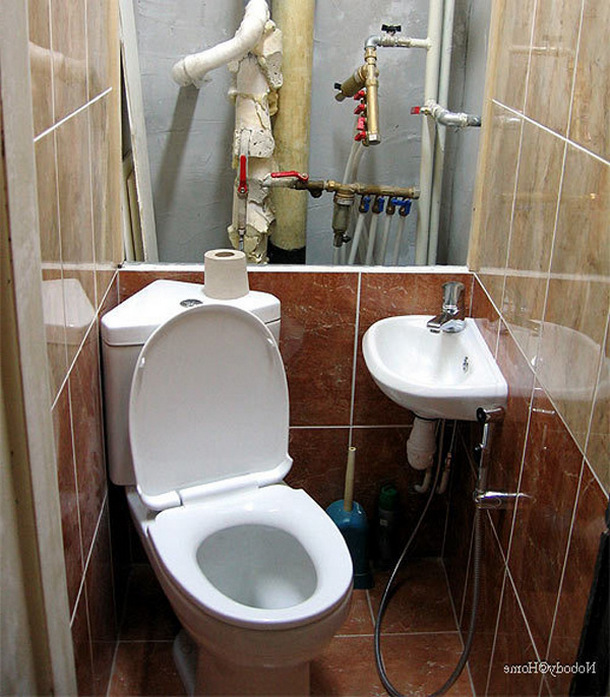 Ремонт в туалетной комнате своими руками фото