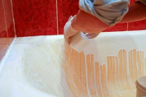 Заливка ванны акрилом фото