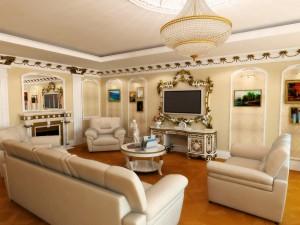 Стиль гостиной комнаты классика
