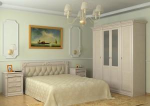 Вариант легкого декора спальни