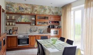 Вариант росписи стен на кухне
