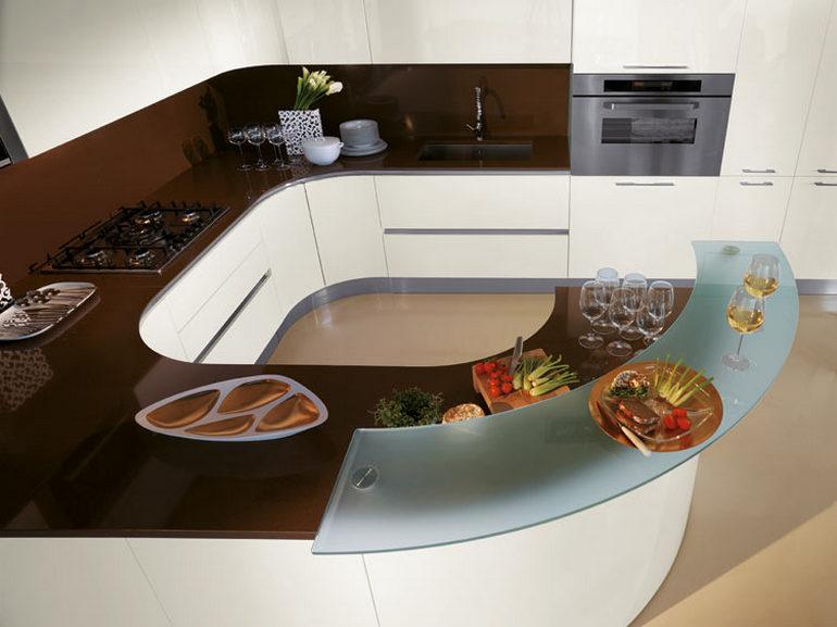 Кухни угловые с барной стойкой