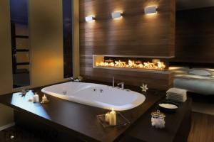 Вариант оформления ванной со свечами