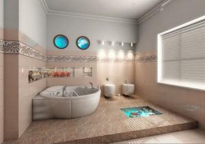 Вариант ванны на подиуме