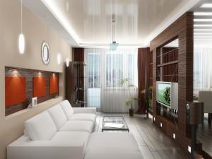 Вариант гостиной комнаты