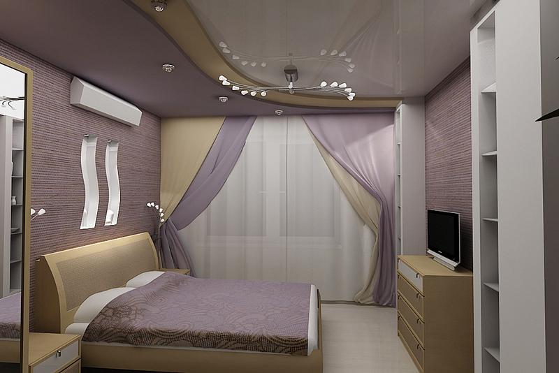 создаем интерьер маленькой спальни грамотно
