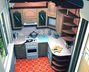 Планировка маленькой кухни. Часть вторая