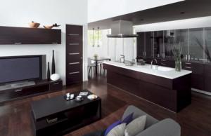 Вариант дизайна кухни гостиной