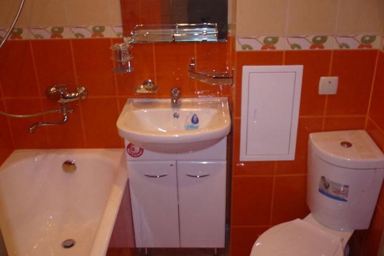 Ремонт в ванной комнате фото в панельном доме своими руками