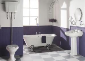 Вариант цвета сливы ванной комнаты