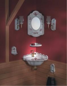 Вариант стиля раковины с зеркалом