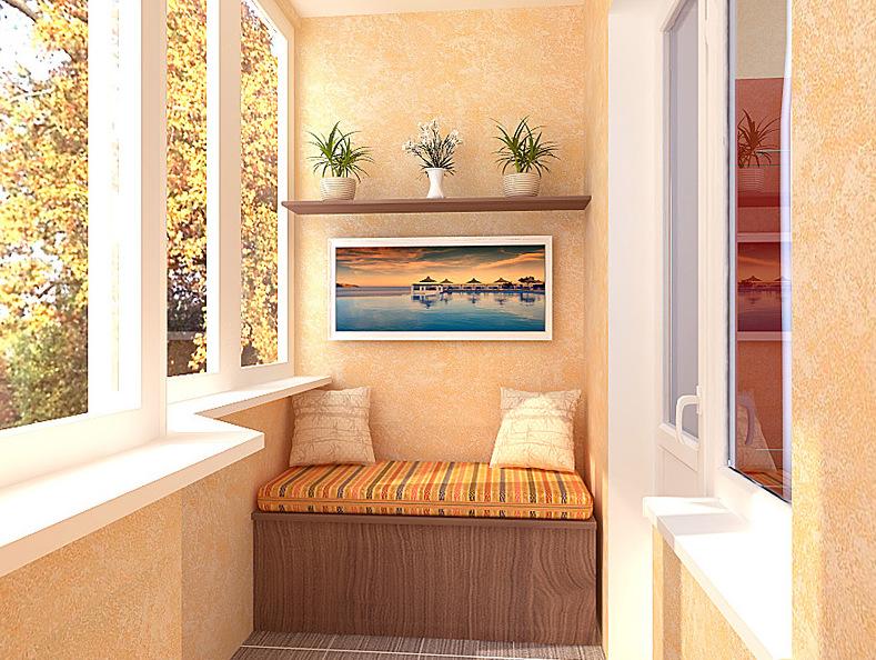 Балкон-дизайн своими руками