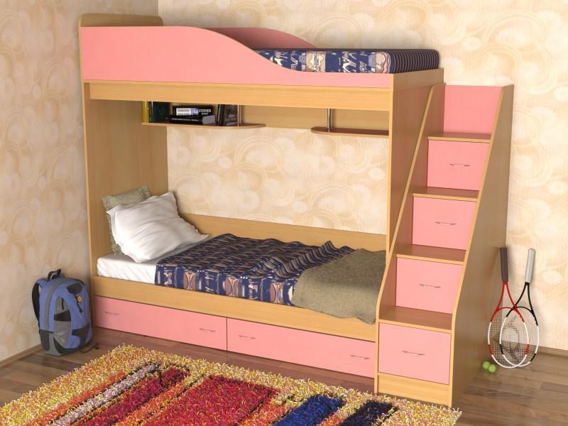 Detskaja_komnata_dlja_dvuh_devochek-01 Детская комната для двух девочек