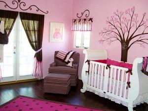Пример оформления комнаты для новорожденных