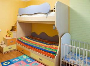 Пример детской комнаты для троих детей