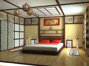 Пример интерьера в японском стиле