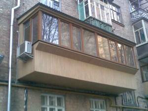 Пример расширения балкона