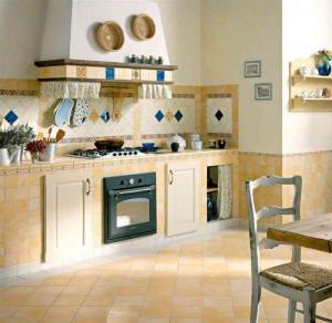 Пример оформления кухни плиткой