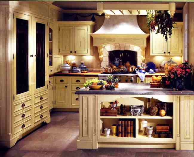 Кантри интерьер кухни фото