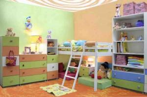 Вариант оформления детской комнаты фото