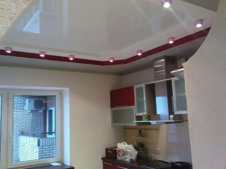 Дизайн потолков из гипсокартона на кухне. фото