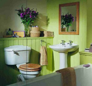 Вариант покраски ванной комнаты фото