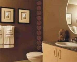 Еще вариант покраски ванной комнаты фото