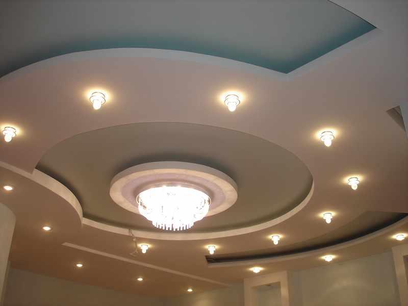 Идеи дизайна потолков из гипсокартона фото