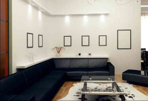 Вариант оформления стен в гостиной фото