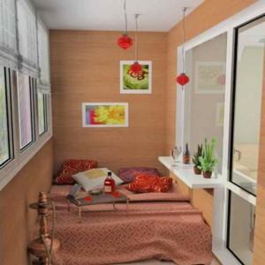 Вариант спальни на балконе фото