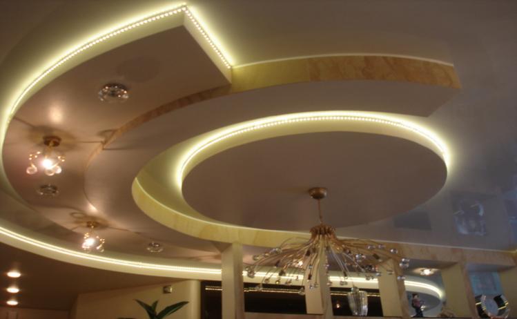 Фото монтаж двухуровневый потолок из гипсокартона фото