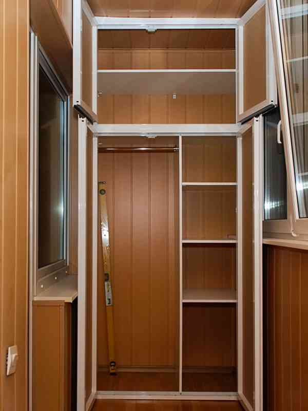 Изготовление полок и шкафов в лоджиях. - установка лоджий - .