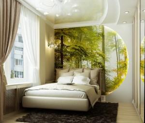 037-300x254 Интерьер спальни и удобство спального места