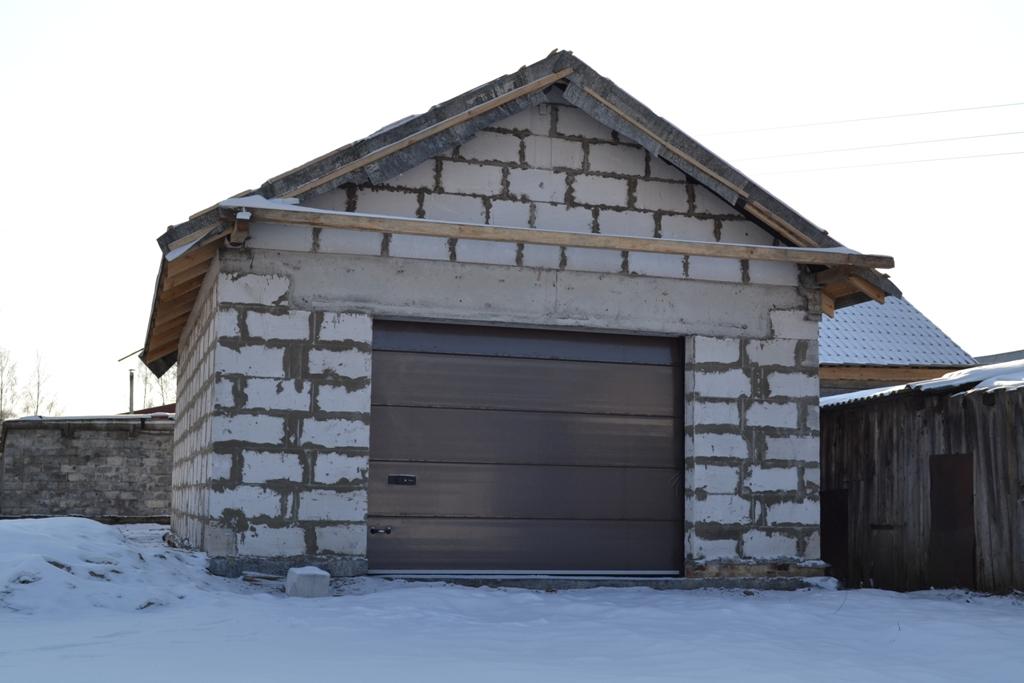 фото постройки гаража