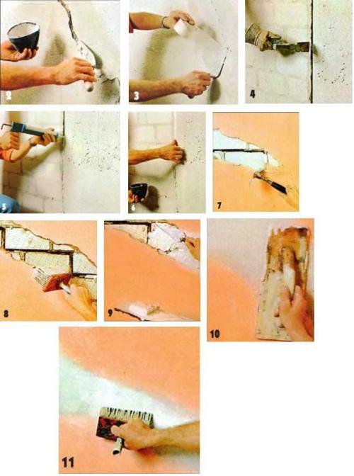 9-1 Как отремонтировать штукатурку