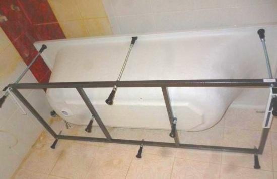 Как установить акриловую ванну своими руками