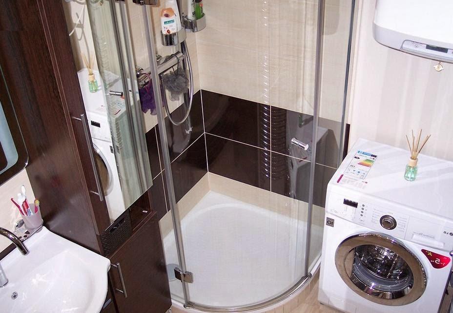 душевая кабина в ванной малых размеров