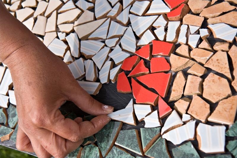 Как сделать мозаику своими руками видео