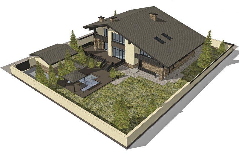 план участка дома
