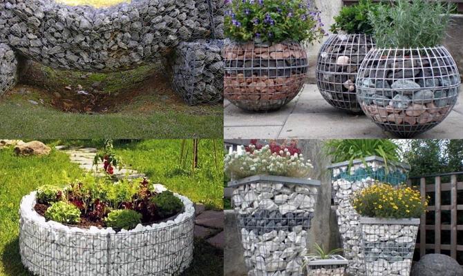 Корзина из камней своими руками для сада мастер класс