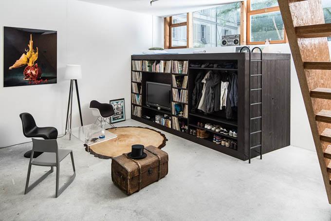 Living-Cube-Till-Koenneker-01 Жилой куб внутри помещения. Какие его функции?