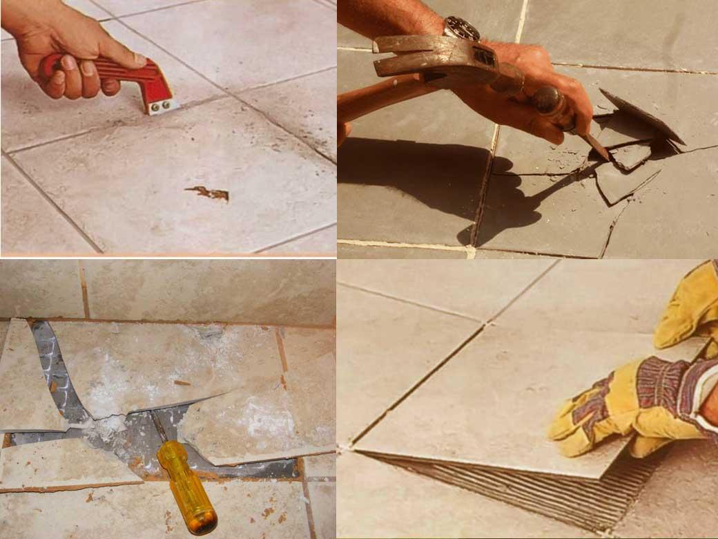 Replace ceramic tile floor