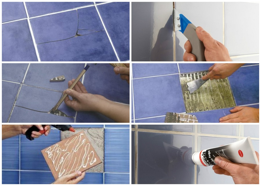 zamena-fragmenta Как заменить разбитую керамическую плитку