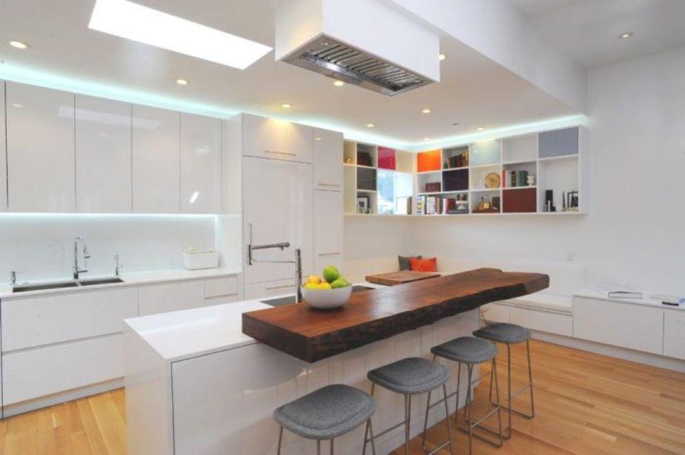 svetodiodnie-svetilniki-na-kuhne-1-1 Встраиваемые светильники LED - строгий стиль плюс практичность