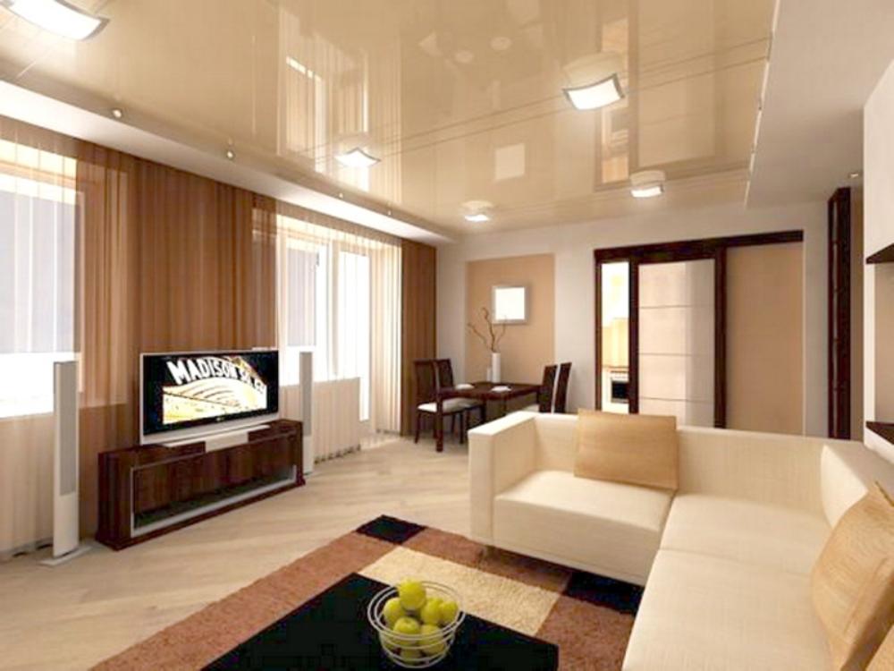 natyazhnye_potolki_v_interere-1 Создаём интерьер однокомнатной квартиры