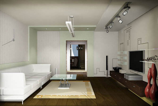 interer_zala_v_kvartire Интерьер зала в квартире