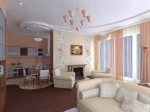 Interer_kuhni_gostinoj-01-300x225 Интерьер кухни гостиной: удобство и эргономичность