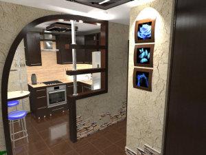 Kuhni_v_koridor-01-300x192 Перенос кухни в коридор – оригинальная идея